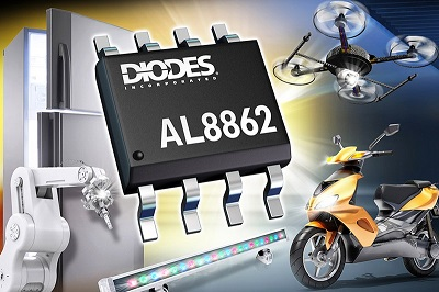 Diodes' New AL8862 Buck LED Driver Adds Dimming